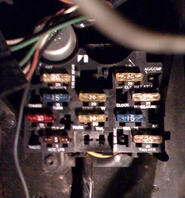 heater blower on ac fuse
